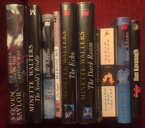 10 first edition signed fiction books in fine condition. Various authors, listed below
