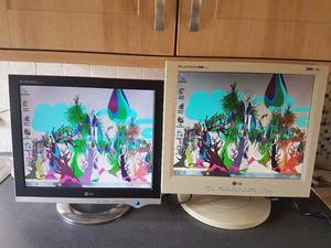 2 lg monitors