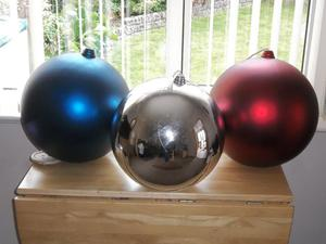 3 x Giant wedding - Christmas decor baubles.400mm HUGE