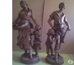 4SALE,A PAIR OF F MOREAU,FRENCH PORCELAIN FIGURES,