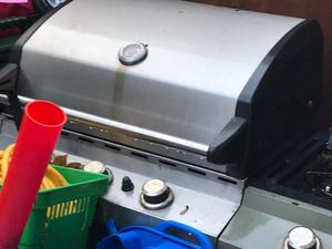 Barbecue - On Wheels with Bottle of Gas