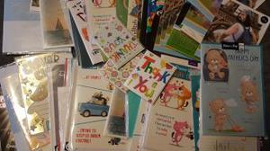Greetings cards, large assortment.