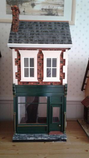 HANDMADE 12TH SCALE DOLLS HOUSE.
