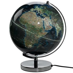 ILLUMINATED WORLD'S CITY NIGHT LIGHTS GLOBE 12""