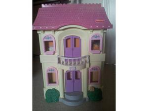 Large fisher price dolls house with lots of furniture,people