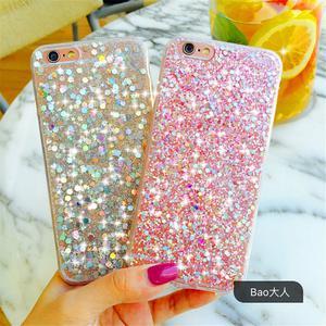 Luxury Bling Glitter Shockproof Gel TPU Soft Case Cover for
