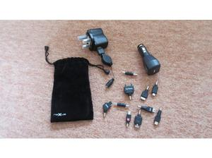 Nexxus USB Charger Kit complete with mains charger, car