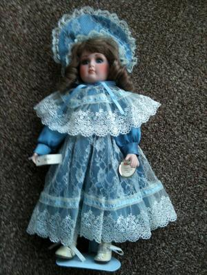 "Porcelain Alberon doll ""Aimy"" approx 16"" high"
