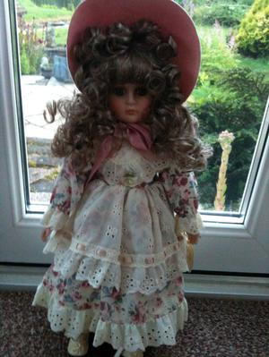 "Porcelain Alberon doll ""Jenny"" approx 16"" high"