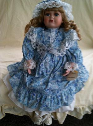 "Porcelain Alberon doll ""Victoria"" approx 21"" high"
