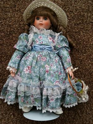 "Porcelain Alberon doll approx 14"" high"