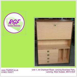 SALE NOW ON!! Bureau Cupboard With Drawers - Local Delivery