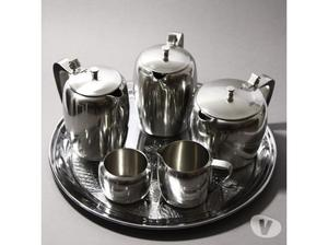 Vintage Viners Tea and Coffee Pot Set with a Swan tray