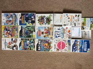 Wii games selection