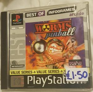 Worms Pinball Playstation Game