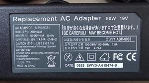 laptop replacement AC Adapter 90w 19v