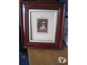 old portrait in frame