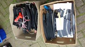 two large boxes of vintage scalextric track