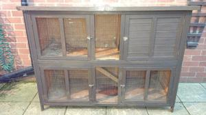 2 x 5 foot double rabbit cages hutch