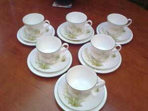 6 Jason Works Cups, Saucers & Side Plates