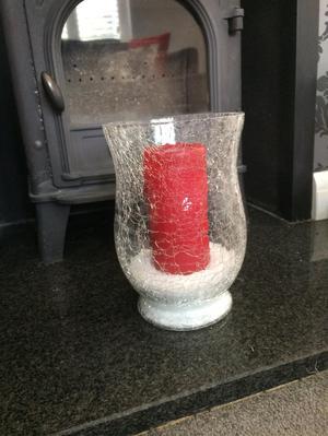 6x crackle hurricane vases