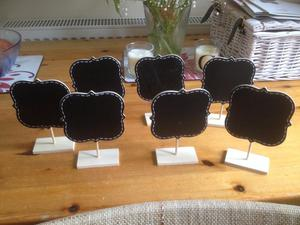 7x wedding place table chalkboards
