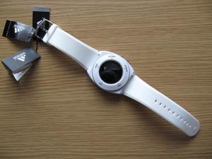 ADIDAS MEN'S 42MM WHITE SILICONE BAND PLASTIC CASE QUARTZ