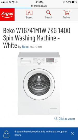Beko 7kg washing machine BRAND NEW