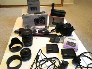 Canon EOS 40D Camera + Lenses +Battery Grip + Batteries + Chargers