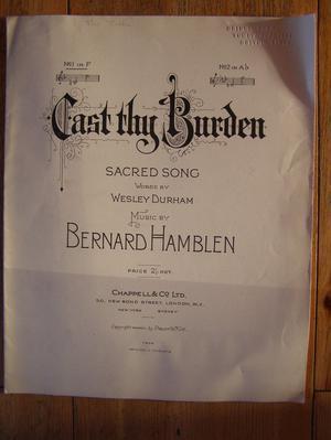 Cast Thy Burden - Durham / Hamblen