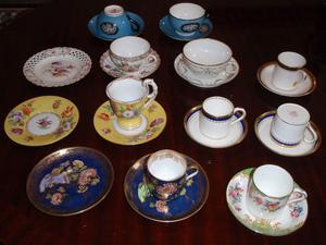 Coffee Cups - Antique Dresden, Spode
