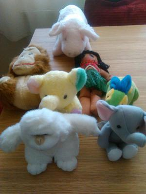 Collection of clean soft toys