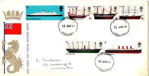 GPO 1st. DAY COVER - BRITISH SHIPS