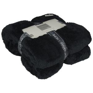 Gusta Fleece Blanket Fluffy 152x127 cm Black