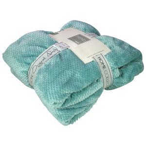 Gusta Fleece Blanket Pompon 152x127 cm Blue