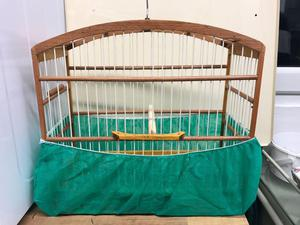 Handmade wooden cages
