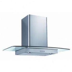 IBERNA 90CM FLAT GLASS CHIMNEY HOOD-STAINLESS STEEL-NEW-FAB