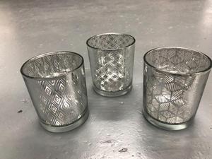 Job lot of silver tea light candle holder votives