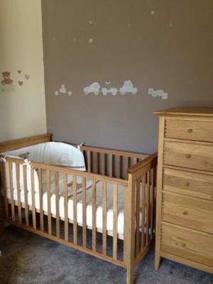 John Lewis Solid Oak Cot Bed