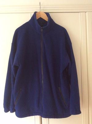 LIKE NEW Mens Dark Blue Full Zip Soft Fleece (XL Extra Large Size)