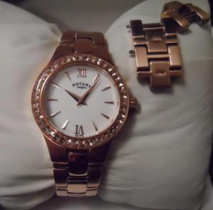Ladies Rotary Rose Gold Quartz Watch New from Argos