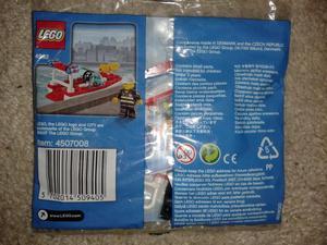 Lego City Fire Boat Polybag Set  Brand New Sealed Bag