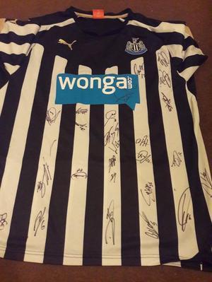 Newcastle United signed shirt