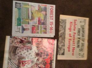 Nottingham forest newspaper specials