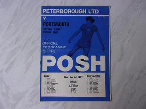 PETERBOROUGH UNITED VS. PORTSMOUTH.  FOOTBALL PROGRAMME.