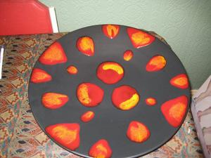 """POOLE POTTERY CHARGER LARGE PLATE 16"""" - RETRO"""