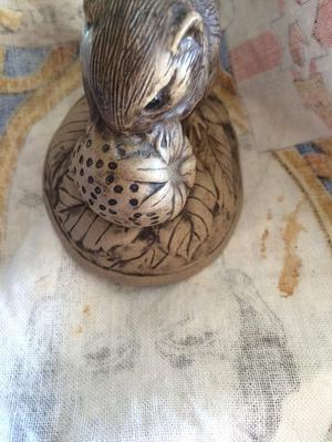 Poole Pottery bird on strawberries figurine