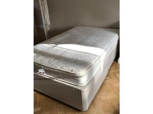 Queen sized divan bed and mattress in Esher