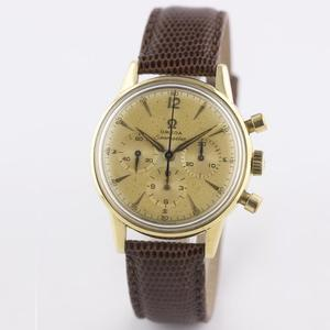 Rare Gents Omega 18k solid gold seamaster chrono watch w.box