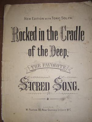 Rocked in the Cradle of the Deep - Sacred Song (Incl P&P)